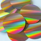 Sequin Round 70mm 2 hole Gold Lazersheen Reflective Metallic. Made in USA