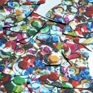 "Fishscale Fin Sequin 1.5"" Multicolor Sequined Mix Pattern Metallic"