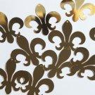 "Sequin Fleur De Lis 1.5"" Gold Metallic Couture Paillettes. Made in USA."