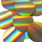 Sequin Round 70mm Gold Lazersheen Reflective Metallic. Made in USA