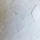 "Sequin Long Diamond 1.75"" Black White Grid Check Squares Print Opaque"