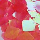 "Square Diamond Sequin 1.5"" Coral Rose Ultra Crystal Rainbow Iris Iridescent"