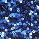 5mm Flat SEQUIN PAILLETTES ~ Royal Blue Laser Hologram Metallic ~ Made in USA