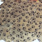 "Sequin Long Diamond 1.75"" Black Gold Animal Paw Print  Metallic"