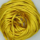 Mustard Yellow Satin Rattail Cord Made in the USA 10 yard pack