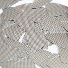 "Sequin Fishscale Fin 1.5"" Black Silver Grid Check Squares Print Metallic"
