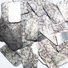 "Rectangle Sequin 1.5"" Gray Black Snakeskin Reptile Pattern Metallic"
