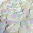 20mm Sequins Center Hole White Opaque Iris Rainbow Iridescent. Made in USA