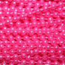 Hot Pink Pearl Beads 2.5mm Molded on Thread Fused to string 120 inches (10')