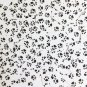 "Sequin Long Diamond 1.75"" Black White Animal Paw Print  Opaque"