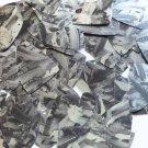 "Sequin Fishscale Fin 1.5"" Black Silver Bird Feathers Print Metallic"