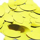 Yellow Metallic Navette Leaf Sequins 1.5 inch Couture Paillettes