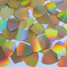 "Sequin Shield 1"" Gold Lazersheen Reflective Metallic. Made in USA"