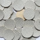 24mm Vinyl Disc White Gold Speckles No Hole Round Circle