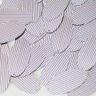 "Sequin Oval 1.5"" Purple Silver Pinstripe Metallic Couture Paillettes"