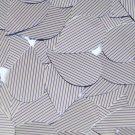 "Sequin Teardrop 1.5"" Purple Silver Pinstripe Metallic Couture Paillettes"