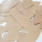 "Sequin Fishscale 1.5"" Orange Silver Pinstripe Metallic Couture Paillettes"