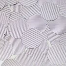 Sequin Round 30mm Purple Silver Pinstripe Metallic Couture Paillettes