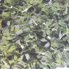 Sequin Round 30mm Lime Green Silver Bird Feathers Print Metallic