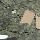 "Rectangle Sequin 1.5"" Green Pine Leaf Bough Gold Metallic"
