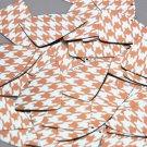 "Fishscale Fin Sequin 1.5"" Orange Silver Houndstooth Pattern Metallic"