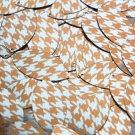 "Navette Leaf Sequin 1.5"" Orange Silver Houndstooth Pattern Metallic"