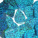 Aqua Blue Sequin Teardrop Glitter Hologram 1.5 inch Couture Paillettes