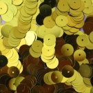 8mm Flat SEQUIN PAILLETTES ~ YELLOW Metallic ~ Round Disc ~ Made in USA.