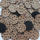 24mm Vinyl Disc Brown Turtle Spots No Hole Round Circle