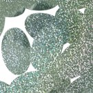 """Green Apple Hologram Multi Reflective Sequins Oval 1.5"""" Large Couture Paillettes"""