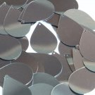 Hematite Shiny Gray Metallic Sequins Teardrop 1.5 inch Couture Paillettes