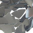 Hematite Shiny Gray Metallic Fishscale Fin 1.5 inch Couture Sequin Paillettes
