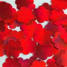 """Sequin Flower 1"""" Red  Lazersheen Reflective Metallic Couture Paillettes. Made in"""