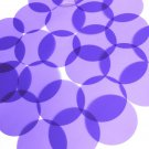 Sequin 50mm No Hole Round Shape Vinyl Go Go Trans Purple. Made in USA