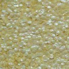 5mm Cup SEQUIN FACET Loose PAILLETTE ~ Creamy Yellow Rainbow Iris Iridescent