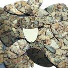 "Oval Sequin 1.5"" Brown Stone Rocks Pebbles Gravel Metallic"