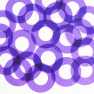 "Sequin 1.5"" Symetrical Donut Vinyl Go Go Trans Purple. Made in USA"