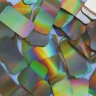 "Sequin Rectangle 1.5"" 2 hole Gold Lazersheen Reflective Metallic. Made in USA"