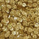 SEQUIN FACET 8mm Cup Loose PAILLETTE ~ GOLD Prism Reflective METALLIC ~ USA Made