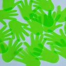 "Glove Hand Vinyl Shape 1.5"" Green Go Go Fluorescent Edge Glow"