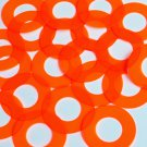 "Donut Ring Vinyl Shape 1.5"" Orange Go Go Fluorescent Edge Glow"