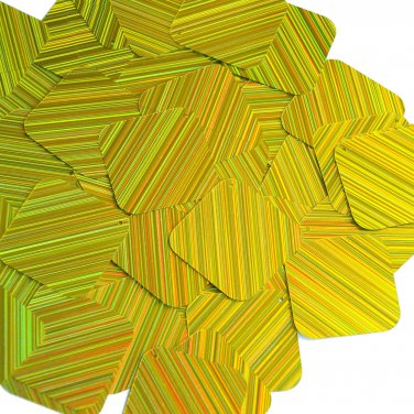 Yellow Sequins City Lights Square Diamond 1.5 inch Reflective Couture Paillettes