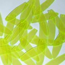 "Long Drop Vinyl Shape 1.5"" Yellow Go Go Fluorescent Edge Glow"