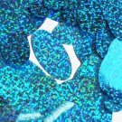 Aqua Blue Sequin Glitter Hologram Oval 1.5 inch Couture Paillettes Made in USA