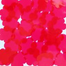 "Sequin Flower 1.5"" Vinyl Shape Go Go Trans Raspberry. Made in USA"