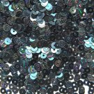 4mm Flat SEQUIN PAILLETTES Loose ~ Black Ice Lightening Streak ~ Made in USA