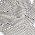 "Sequin Square Diamond 1.5"" Black Silver Grid Check Squares Print Metallic"