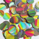 Sequin Round 20mm Center Hole Gold Lazersheen Reflective Metallic. Made in USA