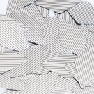 "Sequin Long Diamond 1.75"" Black Silver Pinstripe Metallic Couture Paillettes"