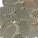 "Sequin Navette Leaf 1.5"" Gold Black Pinstripe Metallic Couture Paillettes"